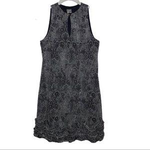 Muse Sleeveless Brocade A-Line Dress